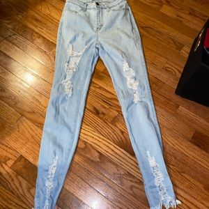 Fashion nova highwaisted  skinny jeans
